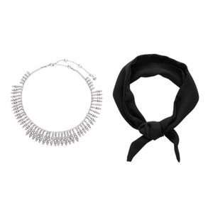 Necklace and Chiffon Scarf Set